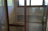 Modern Shower and Bathroom with hot water and Liquid Soap Dispensers